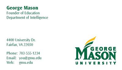 Business cards gmu faculty business cards colourmoves